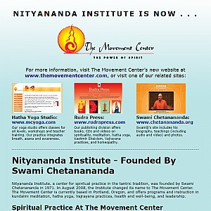 Nityananda Institute - The Power of Spirit through the Practice of Yoga