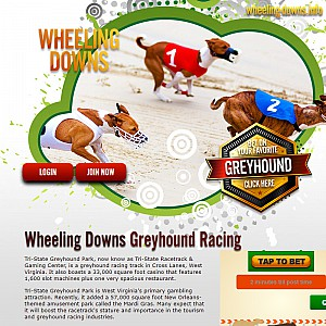 West Virginia. Wheeling Downs Greyhound Racing - Greyhound Racing