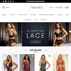 3 Wishes Lingerie, Sexy Costumes And More...