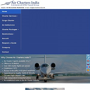 Air Charters India-Aircraft Rental - Helicopter Rental - Charter Services