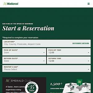 Car hire, UK car hire from National Car Rental