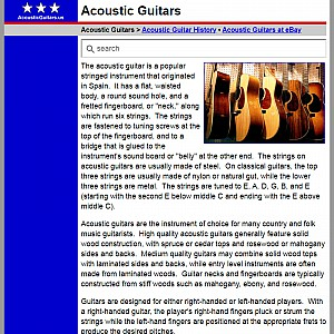 Acoustic Guitars - Acoustic Guitar Guide