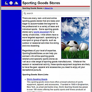 Sporting Goods Store Guide