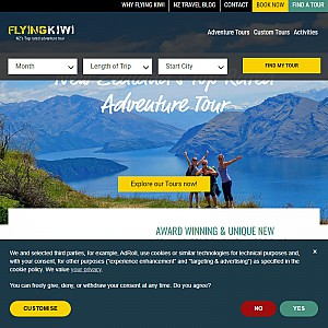 Adventure tours with Flying Kiwi