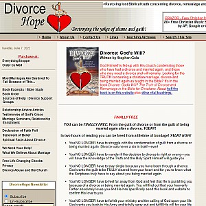 DivorceHope, Destroying the Yokes of Guilt and Shame!