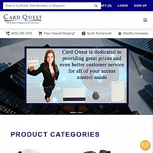 Proximity Cards, ID and HID Access Card Control Systems by Card Quest