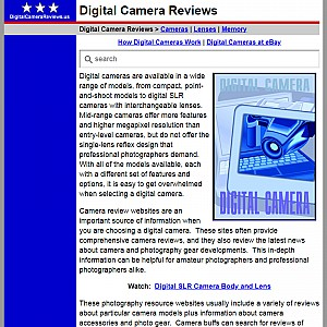 Digital Camera Reviews - Digital Camera Guide