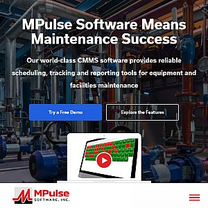 CMMS, Maintenance Software from MPulse CMMS Software