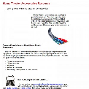 Home Theater Accessories Resource