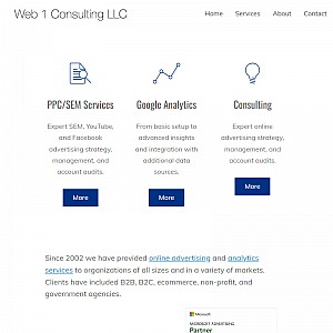 Web 1 Marketing - Consulting, Pay-Per-Click, Keyword Advertising, & SEO services