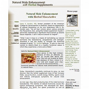 Natural Male Enhancement with Herbal maca
