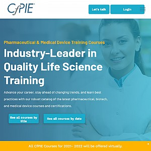 Biopharmaceutical & Pharmaceutical Training & Technology, Medical Device & Biotech Training - CfPIE