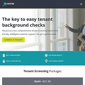 E-Renter Tenate Screening Services