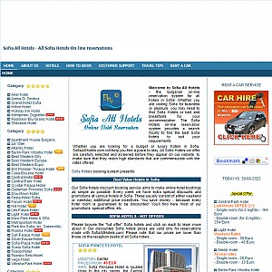 Sofia Hotels on-line booking and reservations in all Sofia