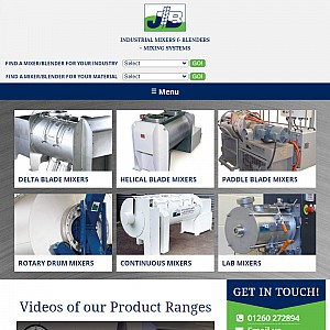 Manufacturers of Mixers and Mixing systems for Powders, Granules, Pastes & Liquids - JR Boone