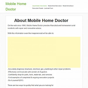 Mobile Home Doctor DIY Mobile Home Repair Advice