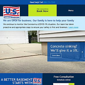 U.S. Waterproofing - Basement Waterproofing Contractor Serving Chicago Metro Area