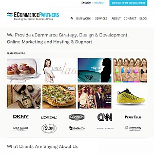 Ecommerce Partners Website Design
