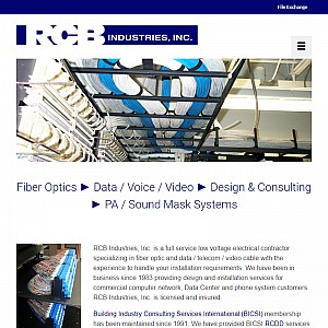 RCB Industries, Inc. is a full service communications cable installation company.