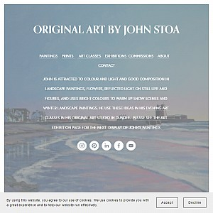 Online art gallery fine art prints landscape paintings by Scottish artist John Stoa