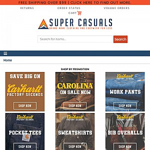 SuperCasuals - Specializing in Carhartt Clothing.