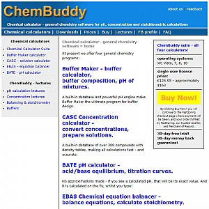 ChemBuddy - chemical calculator collection