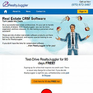 RealtyJuggler Deluxe - Real Estate Agent Software. CRM, Contact & Transaction Management.