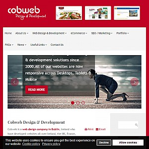 Cobweb, website design and promotion, web submissions and graphic designers