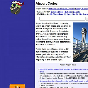 US Airport Codes
