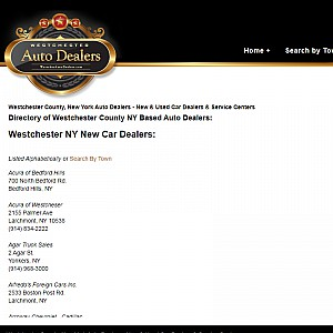 Westchester County New York Auto Dealers Directory