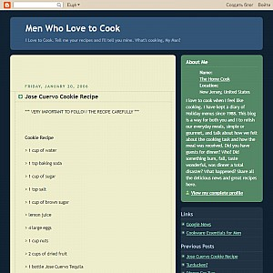 Men Who Love To Cook Blog