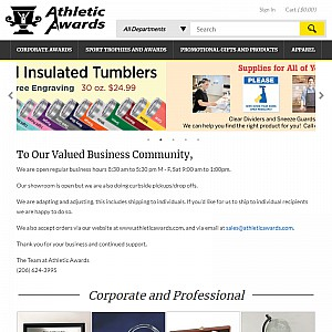 Athletic Awards - Trophies, Plaques, Promotional Products, Corporate Gifts