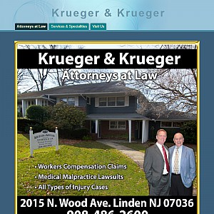 Law firm of Krueger and Krueger of Linden New Jersey are personal injury and workers comp attorneys.