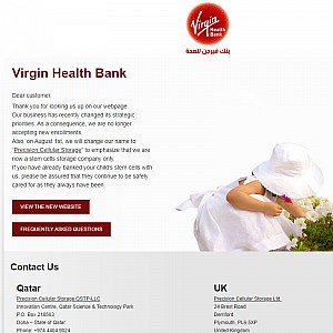 Stem cell storage, umbilical cord blood banking - Virgin Health Bank