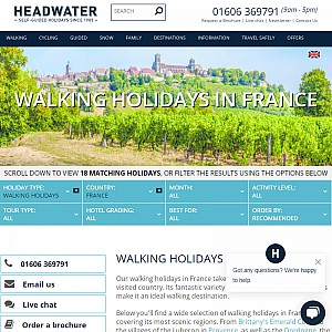 Walking Holidays in France