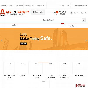 All In Safety, buy direct & save on All safety industrial supplies All items in stock ready to ship