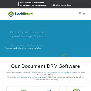 DRM products for document security - information copy protection for pdf files and web content