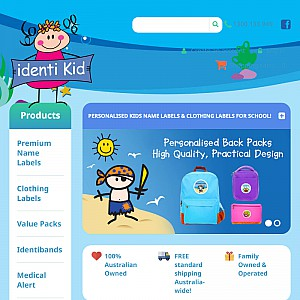 identikid-Innovative name labels for Children