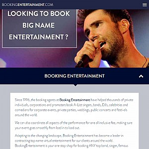 Booking Entertainment Event Planning