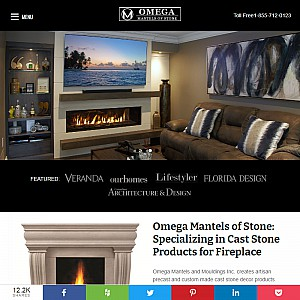 Omega Mantels Stone. Custom and Unique Gas, Wood and Electric Fireplace Mantels - Home Improvement