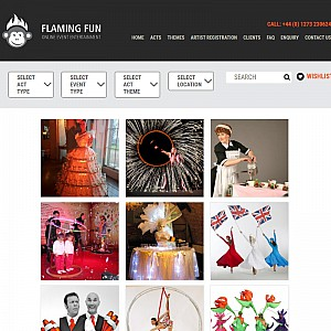 Online Event Entertainment Agency from Flaming Fun - London Stilt Walker and Living Table Supplier