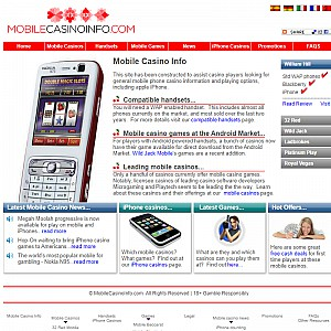 Mobile Casino Information. Guide to mobile phone gambling