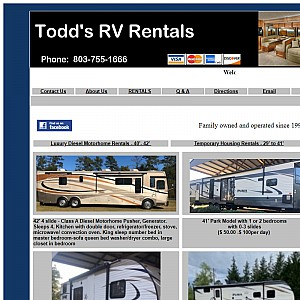 South Carolina RV Rentals | Columbia SC RV Rentals
