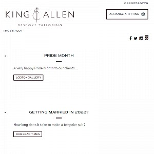 King & Allen Tailored Suits
