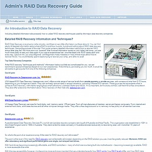 Admin's RAID Recovery Guide