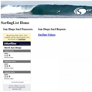 Used Surfboards For Sale, Surf Travel, Surf Report at SurfingList