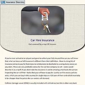 Cheap car hire insurance