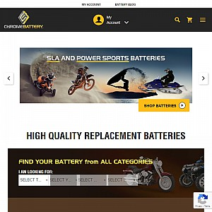 Camcorder Batteries & More at Chrome Battery