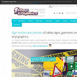 Safety signs | vinyl lettering | vehicle graphics | pvc banners stands | safety sign makers | leafle