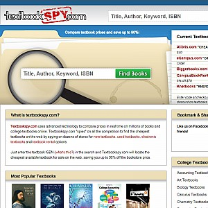 Textbookspy.com | Compare Textbook Prices | Buy Textbooks | Sell Textbooks